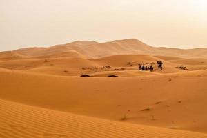 Dunes de sable à Merzouga, Maroc
