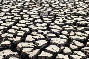 texture du sol séché et craquelé photo
