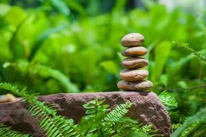 pierres empilées. photo