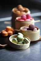 sélection de macarons photo