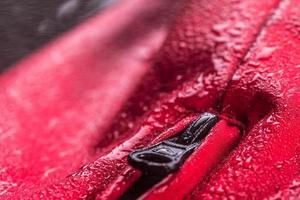 tissu textile imperméable et fermeture à glissière pour vêtements d'extérieur photo