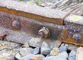la vue rapprochée de la voie ferrée photo