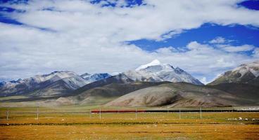 Chemin de fer au Tibet, Chine