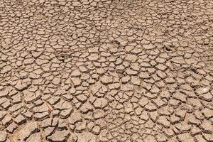 sol fissuré par la sécheresse photo