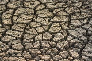 Gros plan de la texture du sol sec