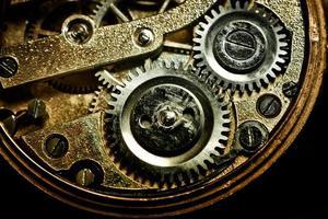 vieux mécanisme d'horloge