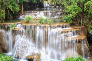 Huai mae khamin cascade dans la forêt profonde