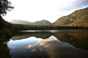 Heart Lake dans une superbe Alberta photo