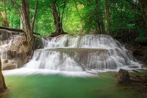 Cascade de Thaïlande à kanchanaburi (huay mae kamin)