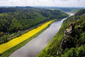 Vue sur l'Elbe de Bastei