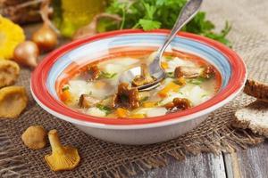 soupe aux champignons photo