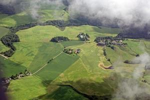 vue aérienne sur la petite ville