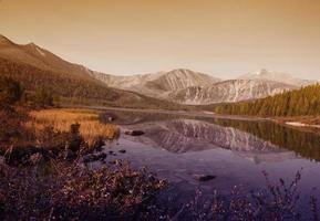 nature vue panoramique paysage de montagne concept tranquille photo