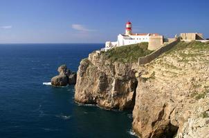 Phare du cap saint vincent à sagres, algarve, portugal. photo