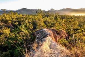 chemin de montagne. photo