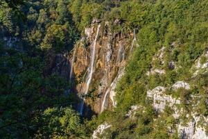 Cascades dans le parc national de Plitvice, Croatie