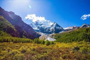 montagnes de neige photo