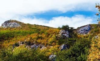 sommet de la montagne. photo