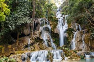 Cascades de tat kuang si au laos photo