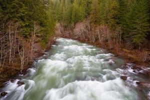 Paysage de la rivière Willamette d'en haut photo