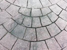 chemin depuis les plaques de sol en granit photo