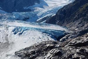 Détails du glacier Stein, Suisse photo