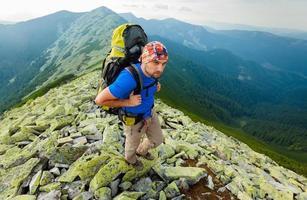 randonnée dans les montagnes des Carpates photo