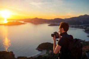 photographe sur la montagne