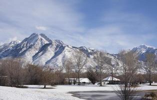 scène d'hiver, Salt Lake City, Utah