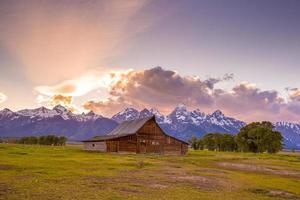 montagnes de grand teton, wyoming. photo