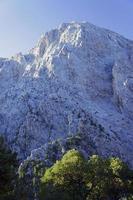 rocheux cousu dans les montagnes blanches photo