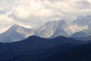 L'angoisse de la montagne Tatra, Pologne photo