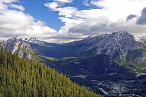 vue sur les montagnes entourant banff