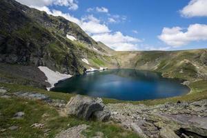 le lac des yeux, les sept lacs de rila, la montagne de rila photo