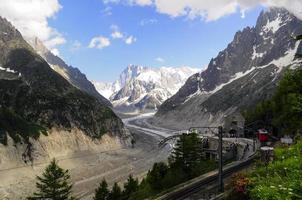 station de haute montagne photo