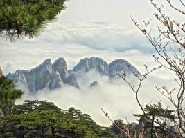 sommet de la montagne Huangshan photo