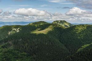 sommets (bobrowiec, bobrovec et grzes, lucna) en manteau d'été photo