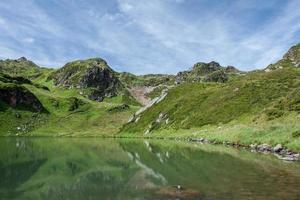 montagnes près du lac photo