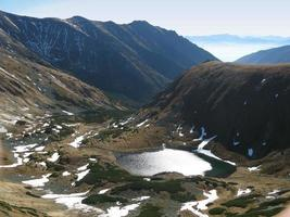 jamnicke pleso dans les montagnes tatra