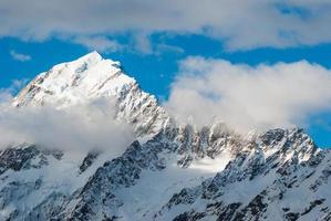 sommet des montagnes. montez le cuisinier. Nouvelle-Zélande photo