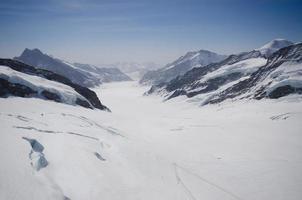 vue sur le glacier de la jungfrau