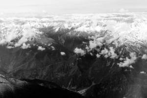 Vue aérienne des montagnes dans la province du Sichuan, Chine. photo