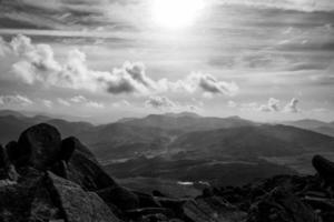 Vue depuis Moel Siabod Snowdonia au nord du Pays de Galles photo