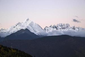 chine meili neige montagne photo