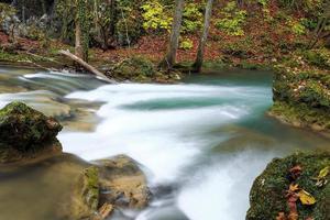 rivière de montagne à la fin de l'automne