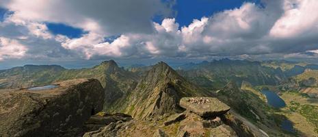 vue sur les montagnes d'en haut