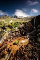 randonnée dans les montagnes photo