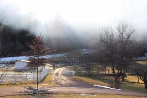 brouillard de montagne photo