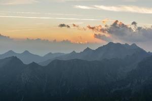 vue avant le lever du soleil photo