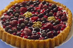 gâteau aux fruits d'automne photo